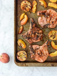 Grilled Pork Chops and Peaches {Paleo + Gluten Free}