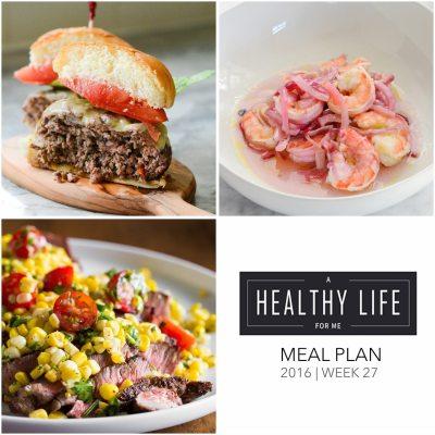 Weekly Meal Plan Week 27