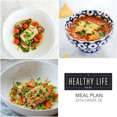 Weekly Meal Plan Week 38