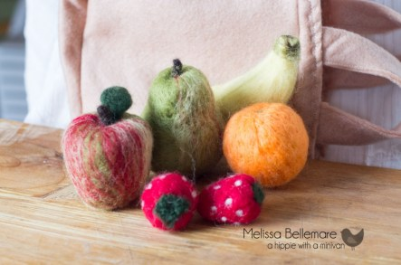 Needle Felted Fruit