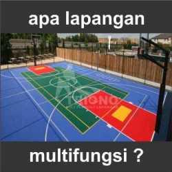 apa lapangan multifungsi, lapangan fungsi ganda, tenis, basket, badminton, futsal
