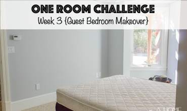 One Room Challenge: Week 3 {A Guest Bedroom Makeover}