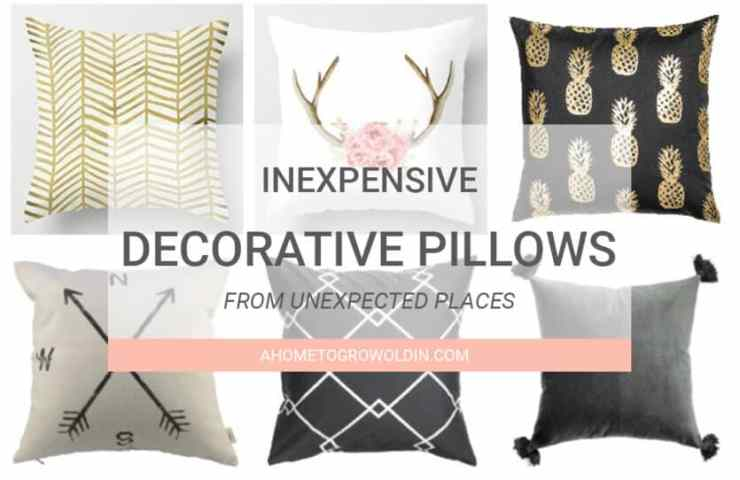 Where to Buy Inexpensive Decorative Pillows