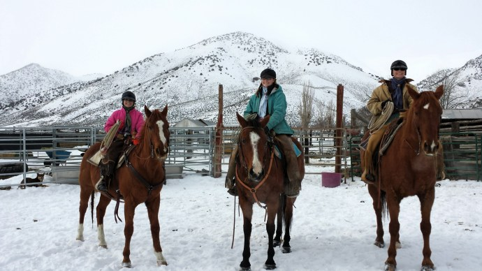 A little horsemanship in the snow