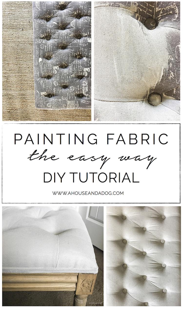 Painting Fabric, the Easy Way - DIY Tutorial | ahouseandadog.com