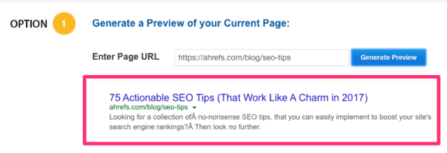 ahrefs seo tips google
