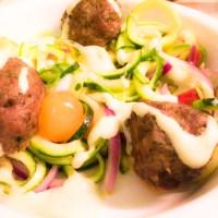 Greek Pasta with Lamb Gyro Meatballs