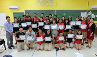 AIJMS Mock Trial Participants receive Certificates of Participation