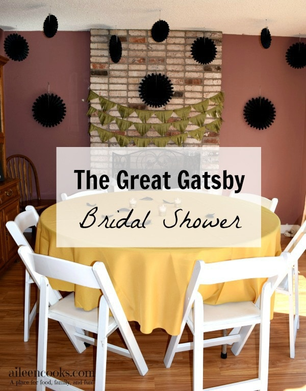 The Great Gatsby Themed Bridal Shower