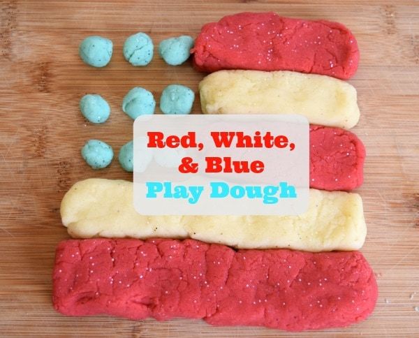 Red, White, and Blue Play Dough