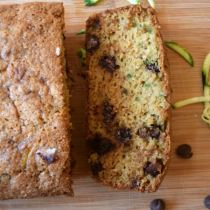 Whole Wheat Chocolate Chip Zucchini Bread. Healthy. Vegetarian. Kid-friendly. http://aileencooks.com