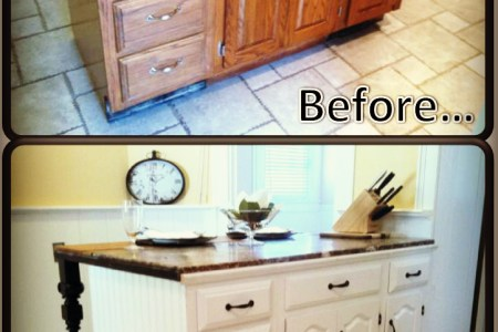 kitchen island renovation before after