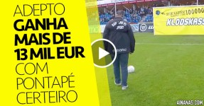 Adepto ganha 13 mil euros com Pontapé Certeiro