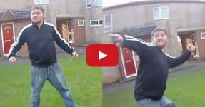Homem Psicótico Ataca Polícia com Faca de 20cms