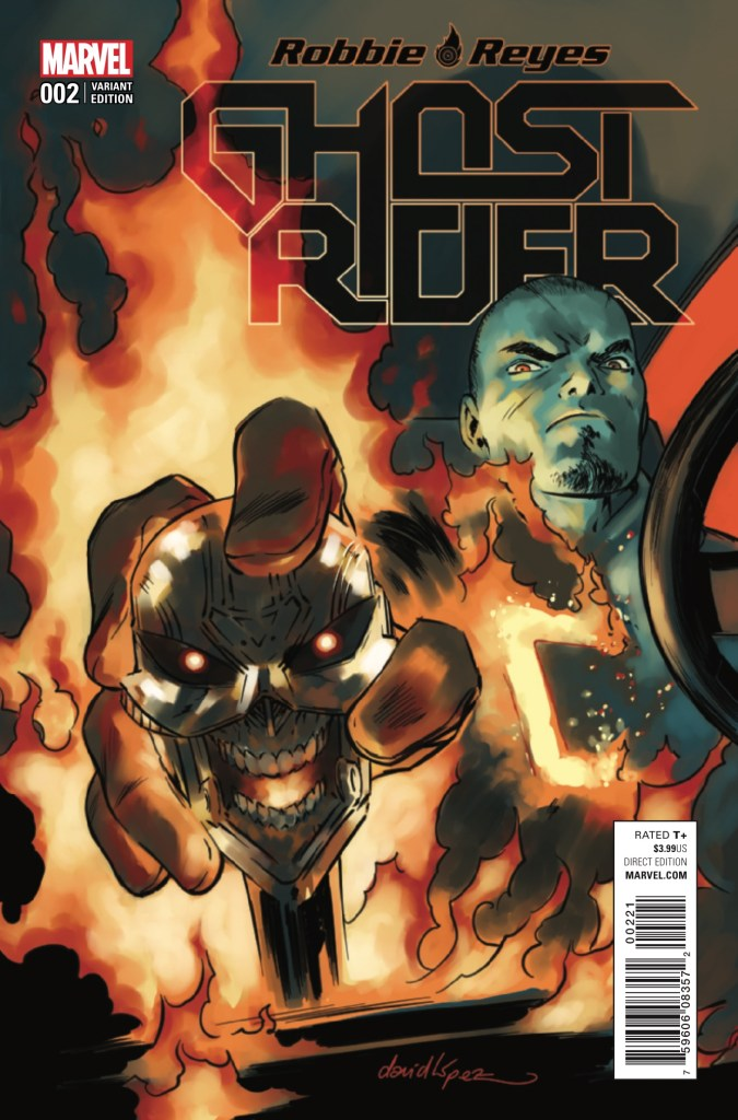 Ghost Rider is probably going to be a pivotal character in the monster event series Marvel's kickstarting next month; I mean, he's practically a monster himself. As Robbie Reyes attempts to curb the control the demonic spirit has over him, some other heroes arrive in town...