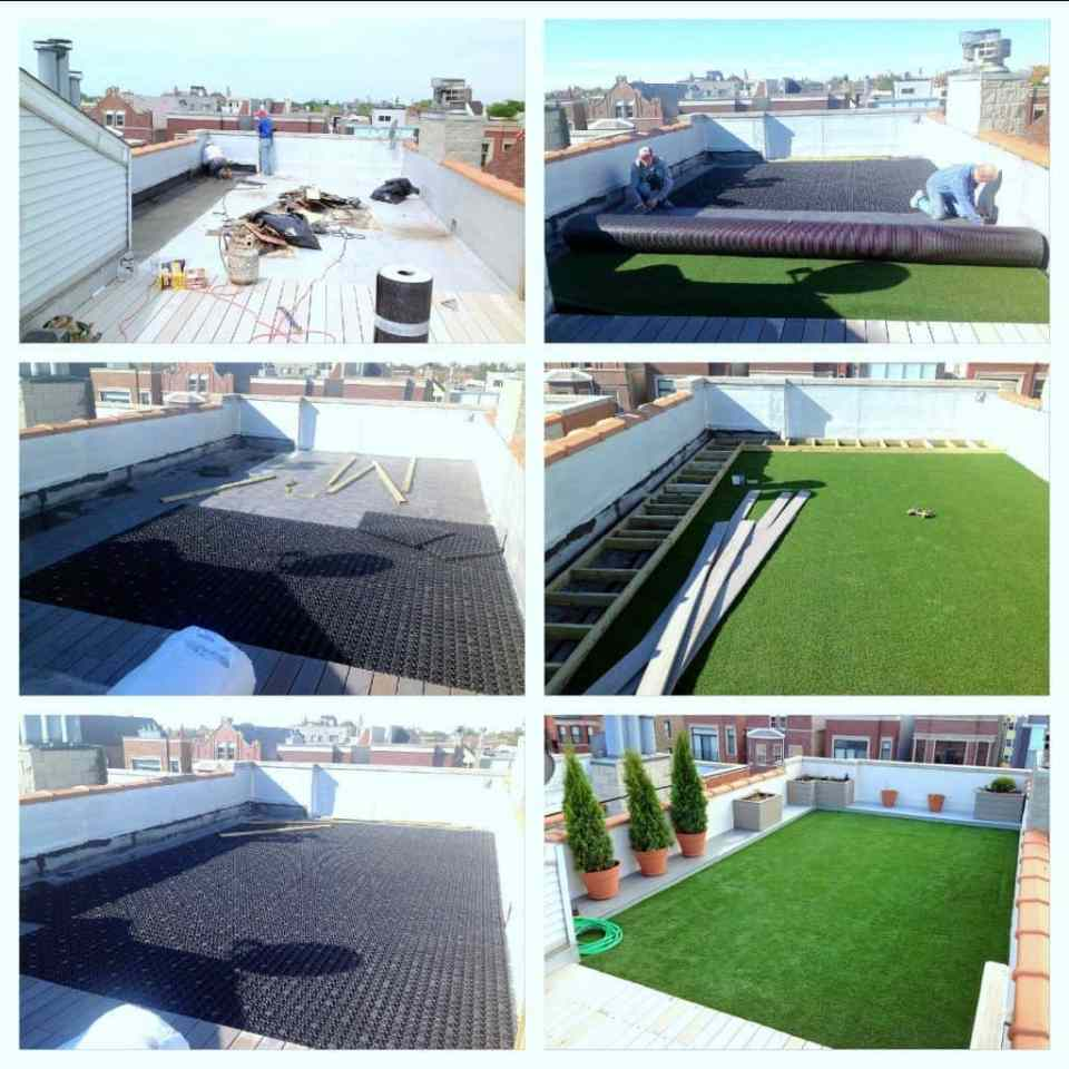 green roof drainage, balcony, balcony turf, synthetic turf balcony, synthetic roof, green roof, play area, synthetic turf play area, synthetic turf, artificial turf, turf drainage, air grid, airdrain, rooftop drainage