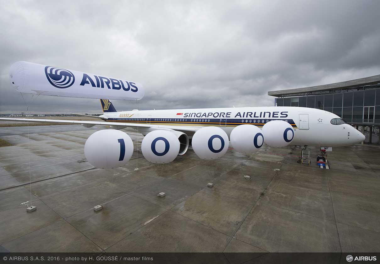 「A350 marks 10,000 Airbus deliveries」的圖片搜尋結果