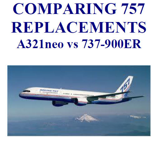 COMPARING 757 REPLACEMENTS