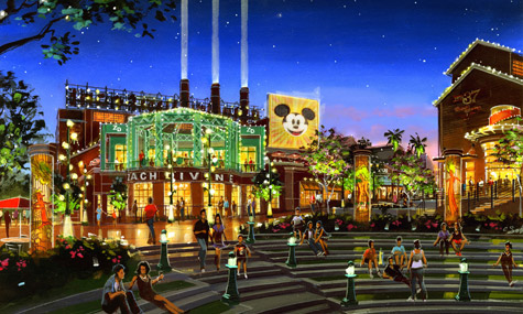 Downtown Disney Hyperion Wharf 02 Downtown Disneys Vergnügungsviertel Pleasure Island wird wiederbelebt