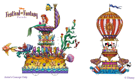 Festival of Fantasy arielle mickey 475x285 Disneys neue Parade im Magic Kingdom