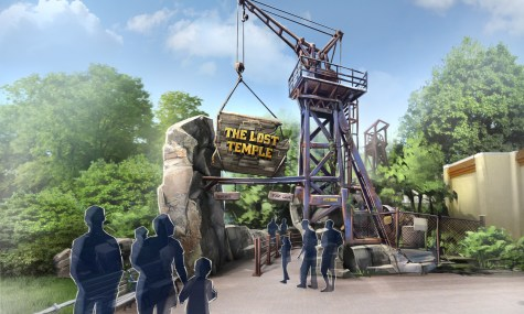 Entrance Gate 475x285 Neue Artworks zu The Lost Temple im Movie Park veröffentlicht