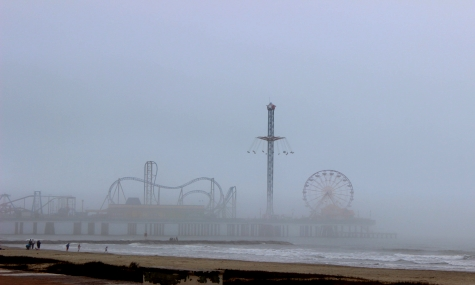 Galveston Pleasure Pier: Hai in Sicht!