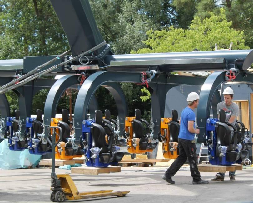 Aufbau des Sky Fly im Holiday Park fast vollendet
