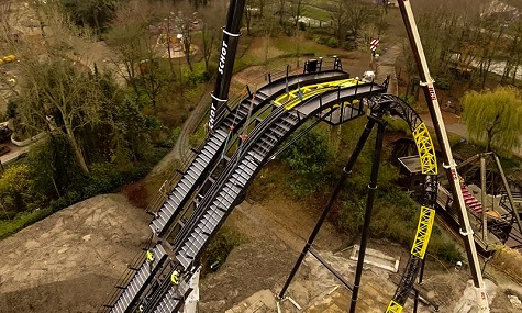 lostgravity firstdrop Achterbahn Lost Gravity beendet Walibi Hollands Winterschlaf