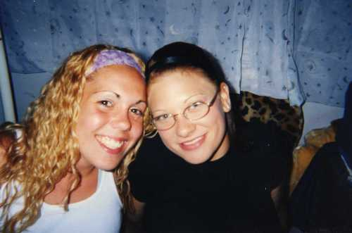 D. Brady (now Love) hanging out with me (c. 2003) in my less adorned, but more adored bedroom