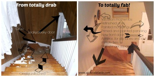 Stairs #diyrenovation #aisforadelaide #diy #craftmanhome