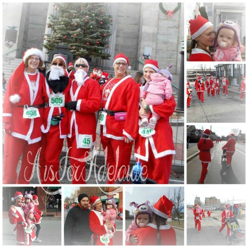 The Sightings Road Race #newbedford #friends #runnermom #teamintraining #santarun #funrun