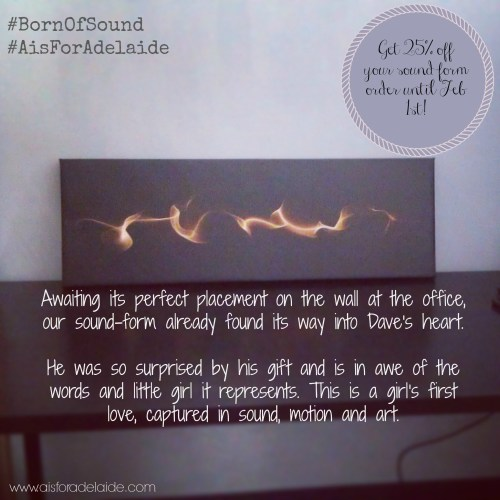 #bornofsound #shop #aisforadelaide Finished Product Sound Form