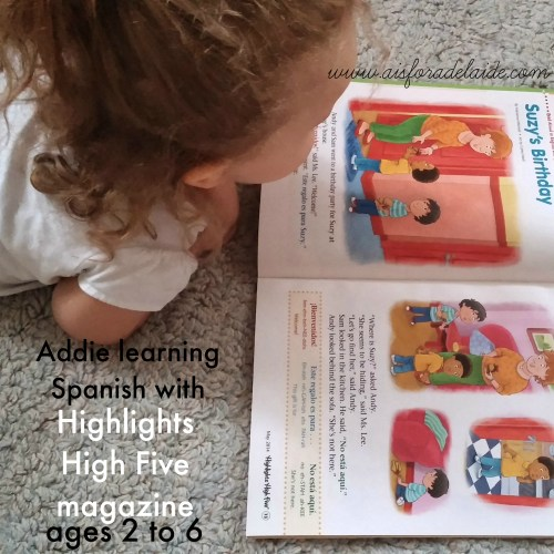 #aisforadelaide #spanish #highlights #highlightsmagazine #shop #highlightshighfive