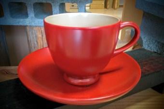 会津漆器 花塗コーヒーカップ