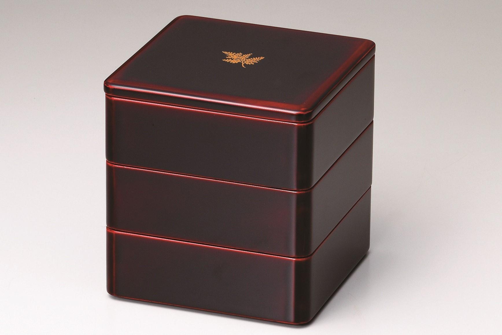 会津塗6寸3段重箱しのぶ