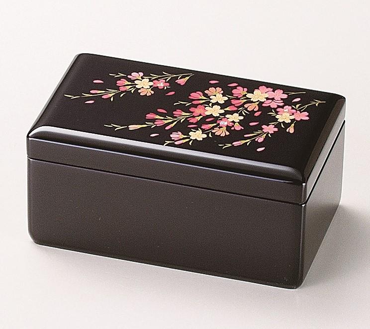 会津塗オルゴール付宝石箱 桜さくら