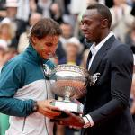 Usain Bolt and Rafael Nadal at French Open