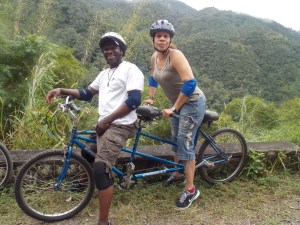 Maxie and Ann during Blue Mountain Bicycle Tour