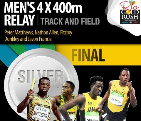 Jamaica's men 4X400M Relay team