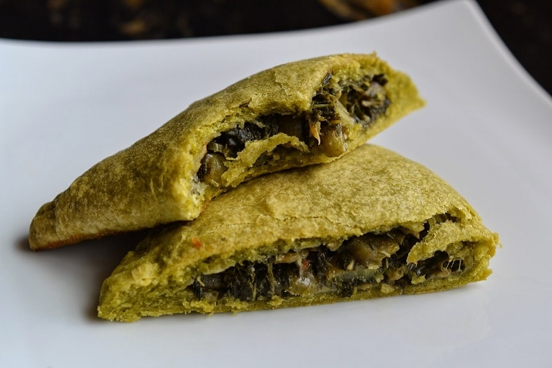 Vegetarian Jamaican Callaloo Patties