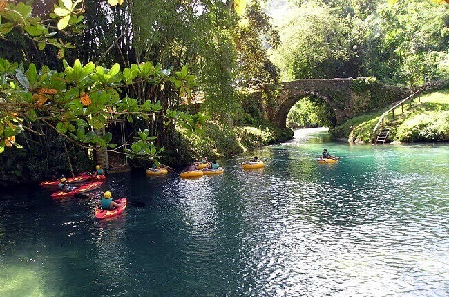 River tubing in White River Valley, one of the best things to do in Ocho Rios