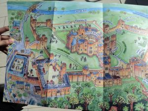 Map of Alnwick Castle