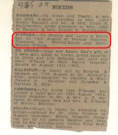 The Birth Notification in the Newspaper