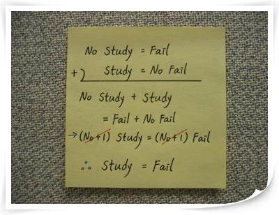 Study = Fail?