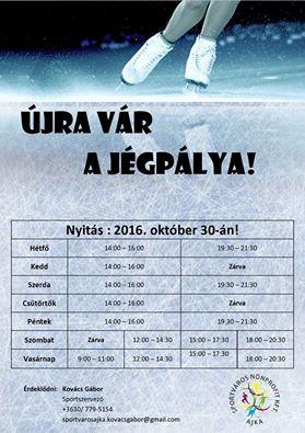 Október 30-án nyit a jégpálya