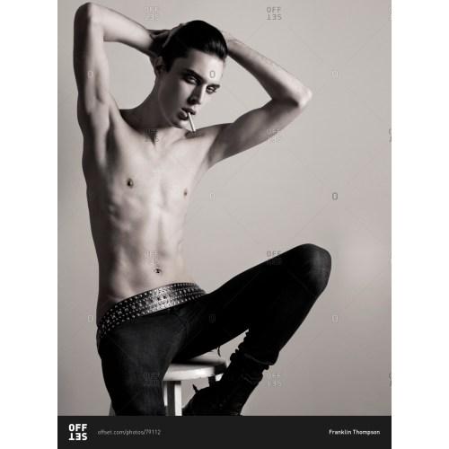 Medium Crop Of Male Model Pose