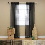 Creating Elegance and Style with Black Sheer Curtains