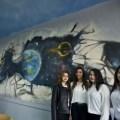 Hayal güçlerini sınıf duvarlarına yansıttılar