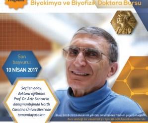 Prof. Dr. Aziz Sancar Doktora Bursu