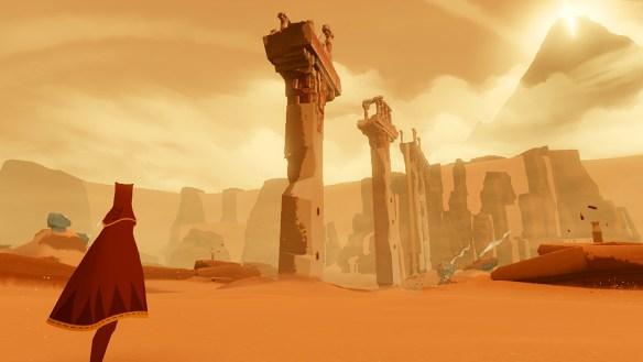 Journey: un desierto, un protagonista anónimo... Y, de repente, te enamoras.